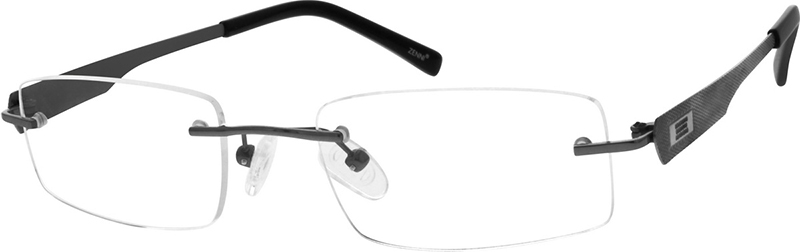 5c424995d271 Gray Titanium Rimless Glasses #527912
