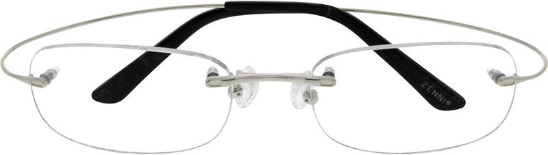 77f07c9ef83 Silver Titanium Rimless Glasses  529111