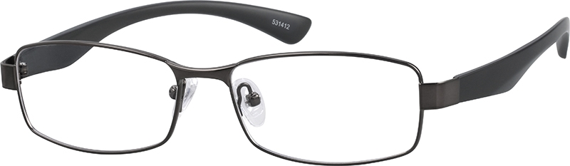 bac2293f571 Gray Rectangle Glasses  531412
