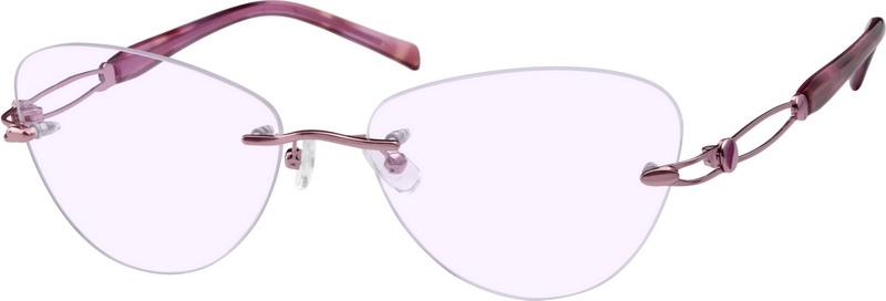 a0f23f384170 Pink Rimless Glasses #551319