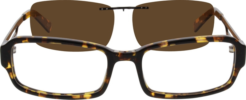 8ff03899ff Acetate Full-Rim Frame with Polarized Magnetic Snap-on Sunlens and Designer  Stainless Steel Temples 560025