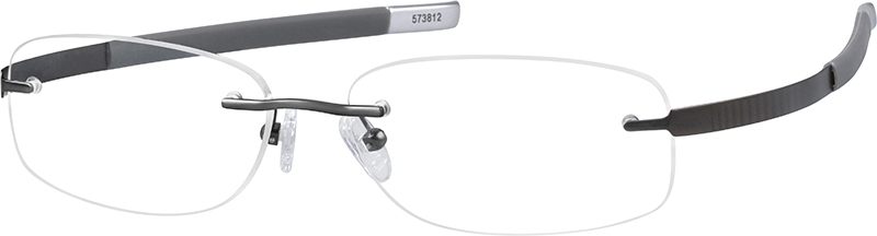 eb3e91d45e69 Gray Titanium Rimless Glasses #573812