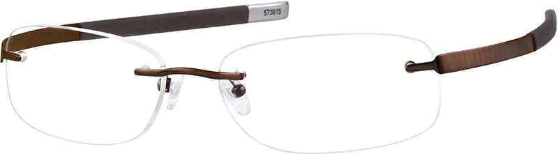 750e4c8079c7 Gray Titanium Rimless Glasses #573812