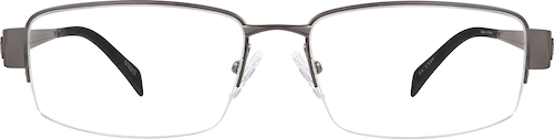 Gray Titanium Rectangle Glasses