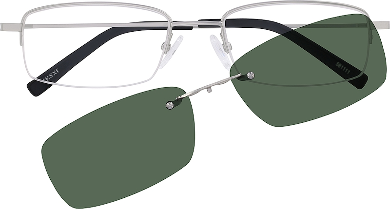 a80f561944 Half Rim Stainless Steel with Polarized Magnetic Snap-on Sunlens. 581111