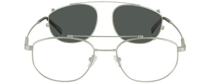 0ca343727c Silver Bendable (Memory) Titanium Full-Rim Frame with Sunlens  583411