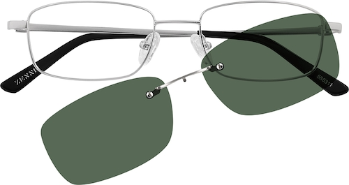 Silver Rectangle Polarized Magnetic Snap-on
