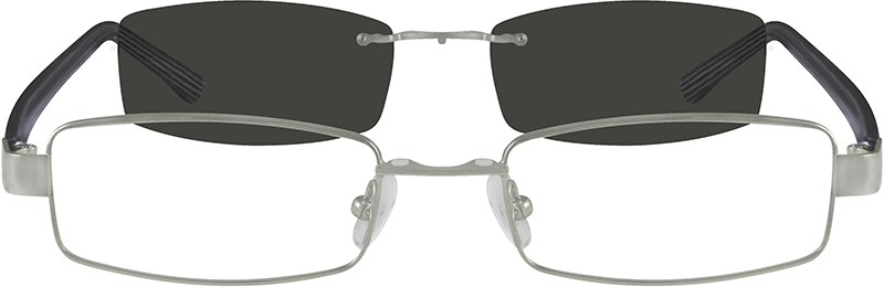 cd77154f10 Metal Alloy Frame with Polarized Magnetic Snap-on Sunlens and Designer  Acetate Temples 586911