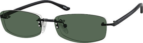 Black Rectangle Polarized Magnetic Snap-on
