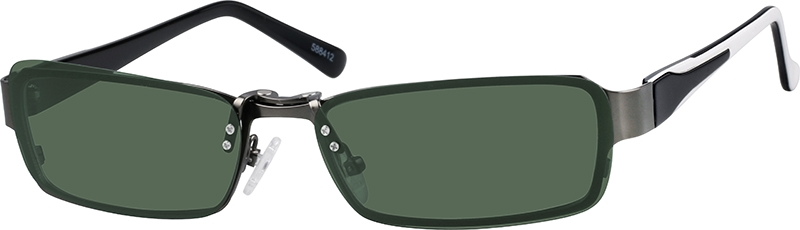 03de75f23f Stainless Steel Full-Rim Frame with Polarized Magnetic Snap-on Sunlens and  Designer Acetate Temples 588412