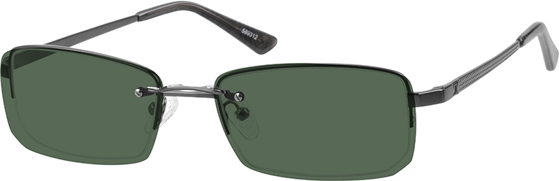 22869e52c7452 Stainless Steel Half-Rim Frame with Polarized Magnetic Snap-on Sunlens  589312