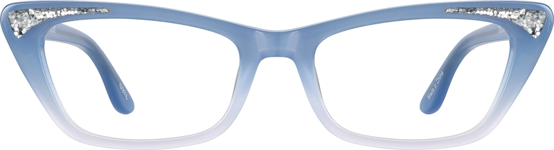 Blue Cat-Eye Glasses front-view