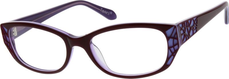 ee3e88fe34e Purple Oval Glasses  626117