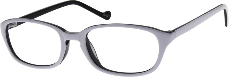 3f4bf4f0e801 White Kids' Rectangle Glasses #632630