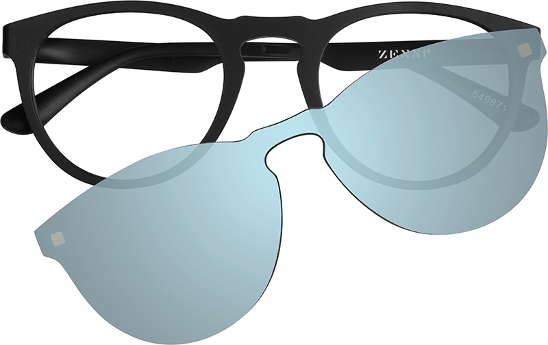 d8c61dea60 Blue Round Glasses with Magnetic Snap-On Sunshade  6498716