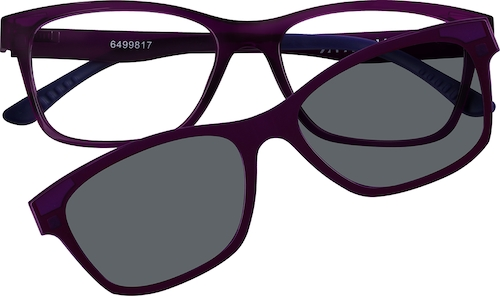 Purple Cat-Eye Magnetic Snap-On Set