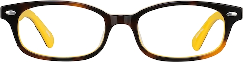 Yellow Kids' Rectangle Glasses