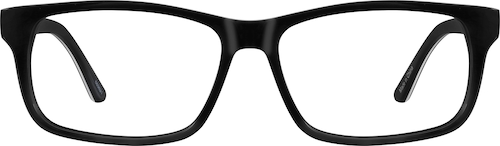 Black Rectangle Glasses