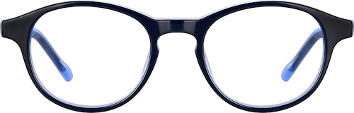 Black Kids' Round Glasses