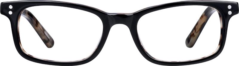 Black Kids Rectangle Glasses 668921