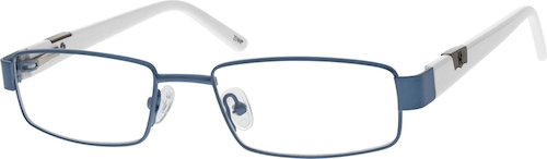 671116 Stainless Steel Full-Rim Frame with Acetate Temples and Spring Hinges