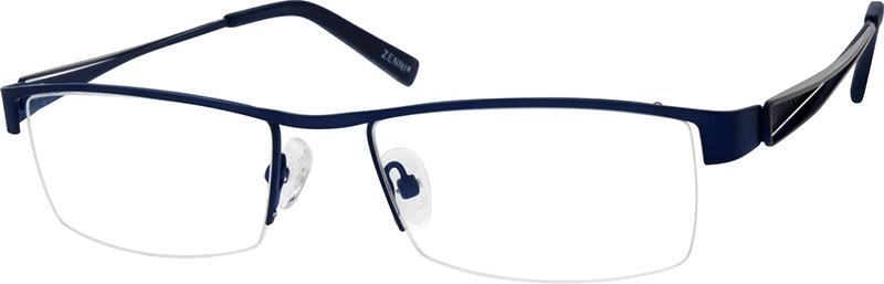 Blue Stainless Steel Half-Rim Frame #682216
