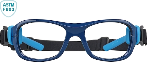 Navy and Light Blue Kids' Sport Protective Goggles