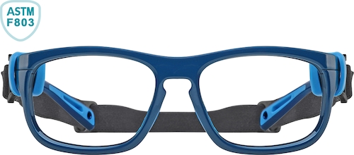 Navy and Light Blue Sport Protective Goggles