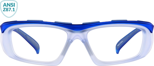Blue Z87.1 Safety Glasses