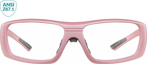 Pink Z87.1 Safety Glasses