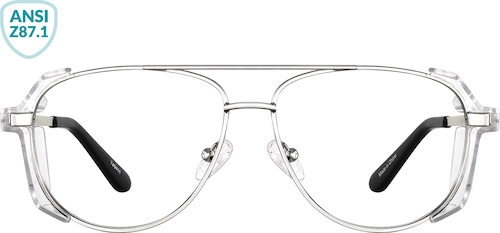 Silver Z87.1 Safety Glasses