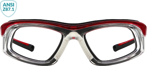 Red Z87.1 Safety Glasses