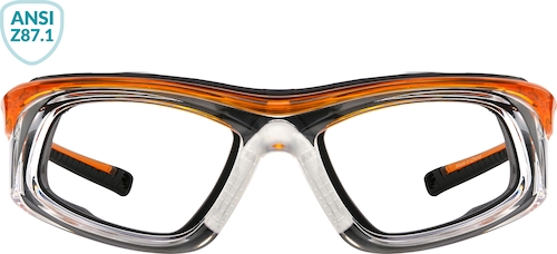 Orange Z87.1 Safety Glasses