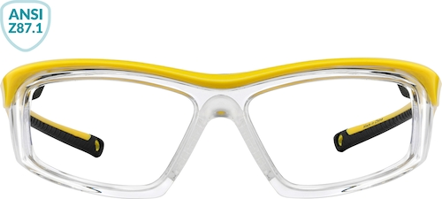 Yellow Z87.1 Safety Glasses