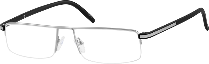 507581ce37f Silver Rectangle Glasses  750711