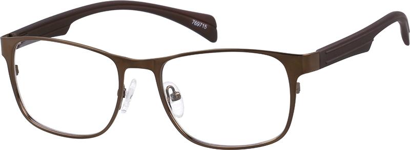 5b454c874d Brown Rectangle Glasses  769715
