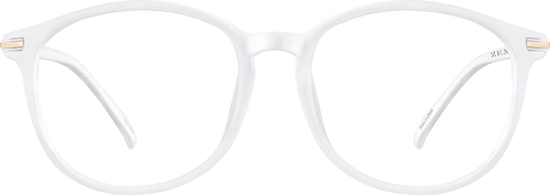 White Round Glasses