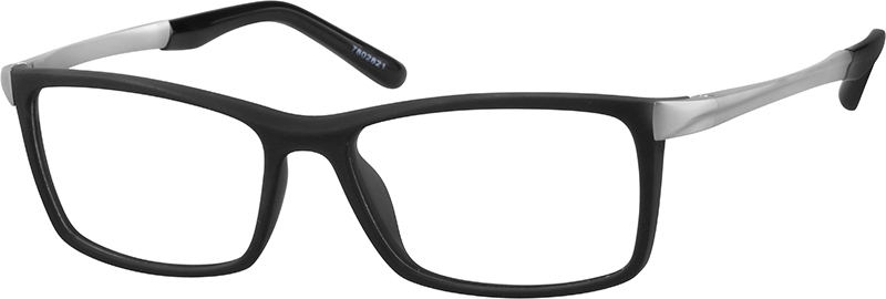 f4efc4adee7 Black Rectangle Glasses  7802821