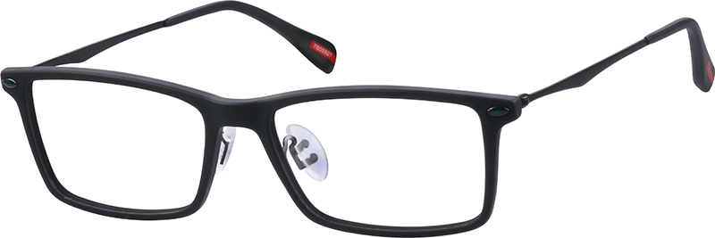 c83c2b7d62fc Black Rectangle Glasses #7805921