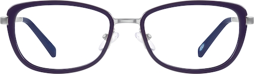 Purple Oval Glasses