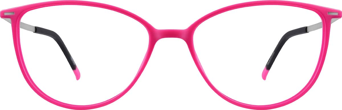 9602c18ccf7d Sku eyeglasses front view jpg 800x257 Pink cat eye glasses