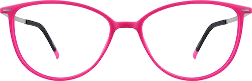 Vibrant Pink Cat-Eye Glasses