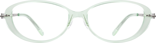 Translucent Green Oval Glasses