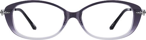 Gray Oval Glasses