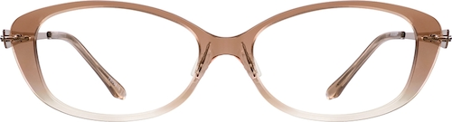 Brown Ombre Oval Glasses