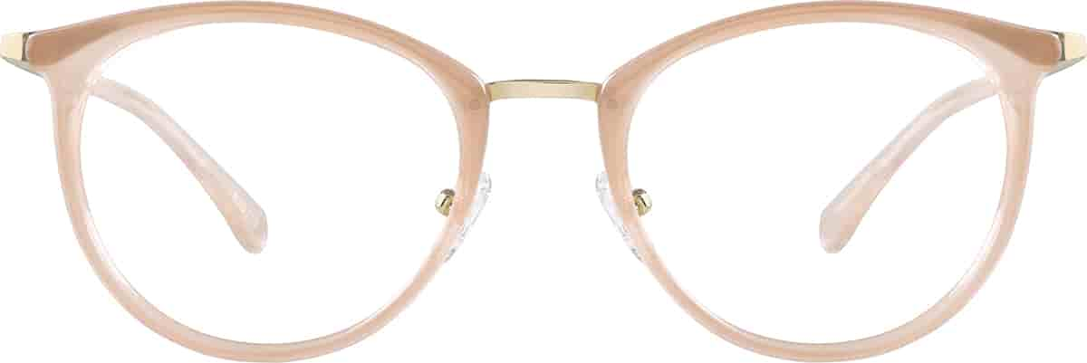 Taupe Round Glasses