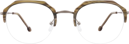 Brown  Geometric Glasses