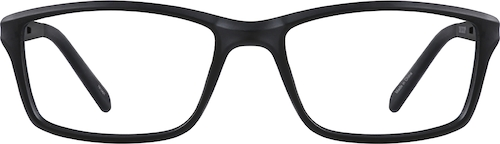 Black Kids' Rectangle Glasses