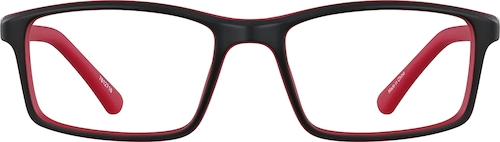 Red Kids' Rectangle Glasses