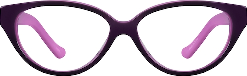 Purple Kids' Cat-Eye Glasses